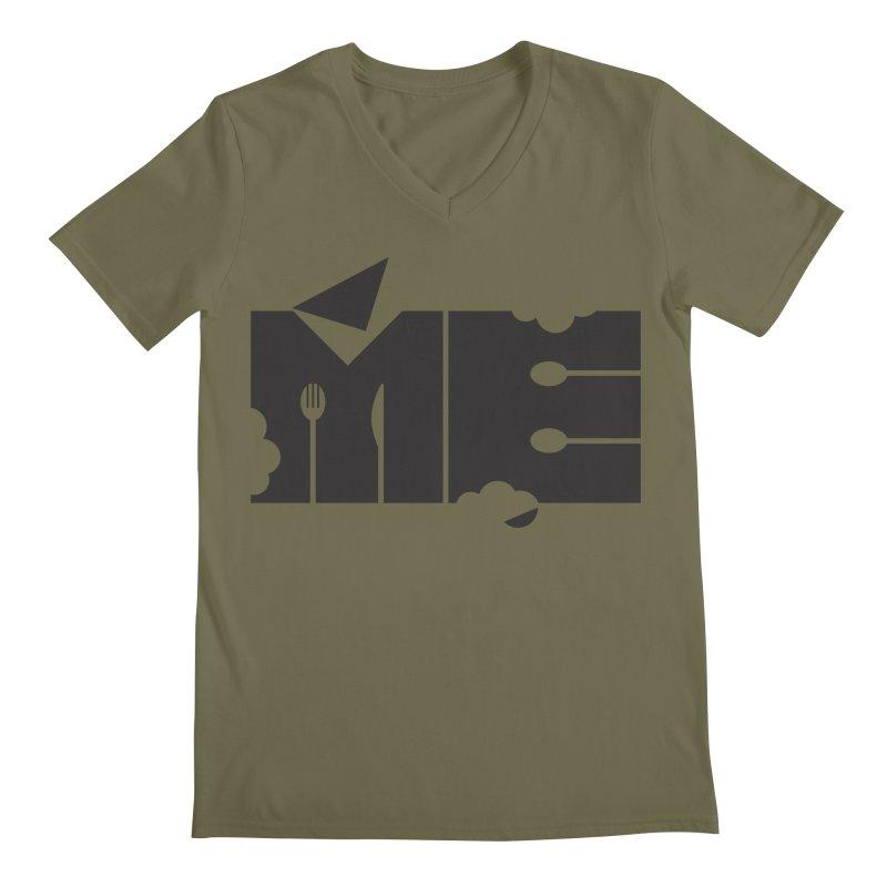 Bite Me Men's Regular V-Neck by FayeKleinDesign's Artist Shop