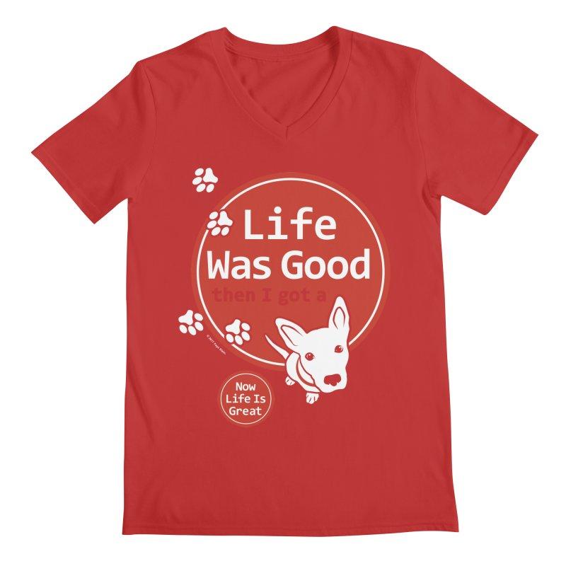 Life Was Good Men's V-Neck by FayeKleinDesign's Artist Shop