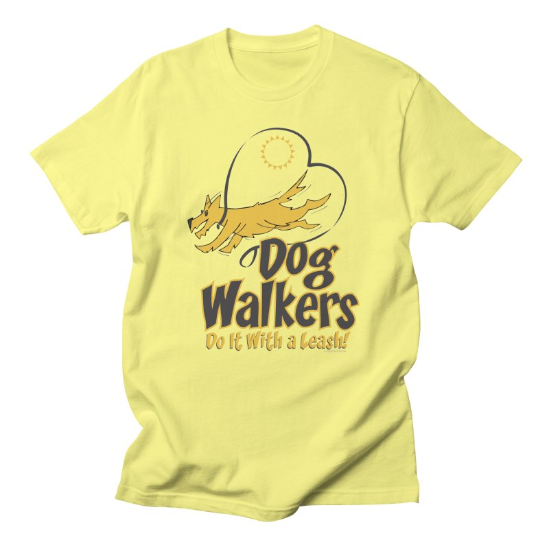 Dog Walkers Do It With a Leash Men's French Terry Zip-Up Hoody by FayeKleinDesign's Artist Shop