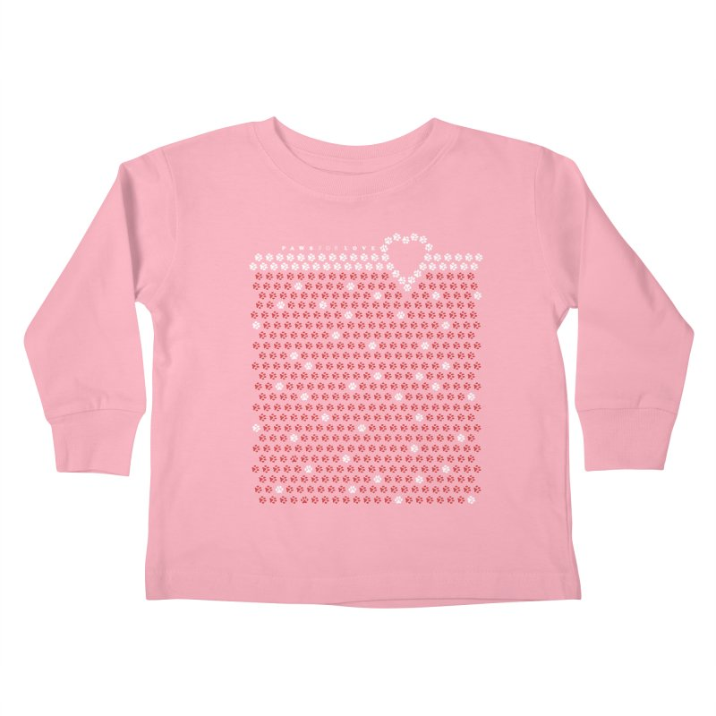 Paws for Love Kids Toddler Longsleeve T-Shirt by FayeKleinDesign's Artist Shop