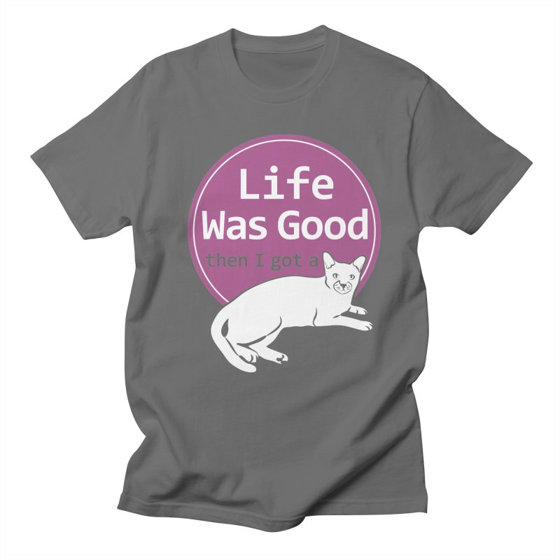Life WAS Good. Then I Got a Cat. Men's Lounge Pants by FayeKleinDesign's Artist Shop