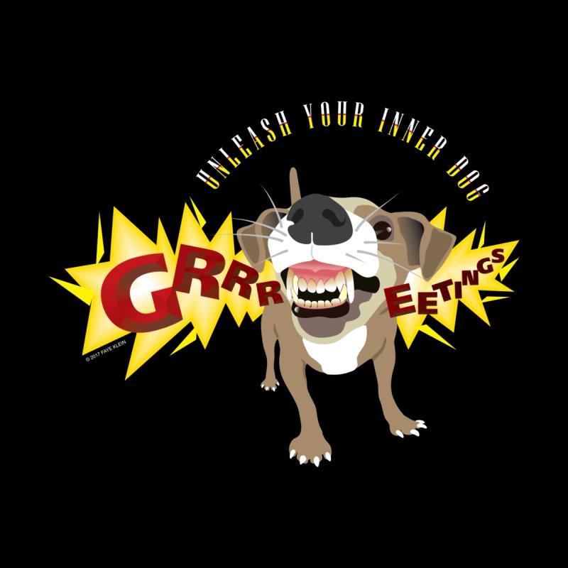 Unleash Your Inner Dog Men's V-Neck by FayeKleinDesign's Artist Shop
