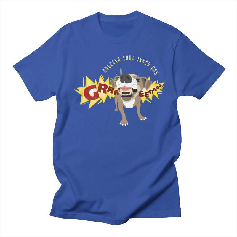 Unleash Your Inner Dog in Men's Regular T-Shirt Royal Blue by FayeKleinDesign's Artist Shop