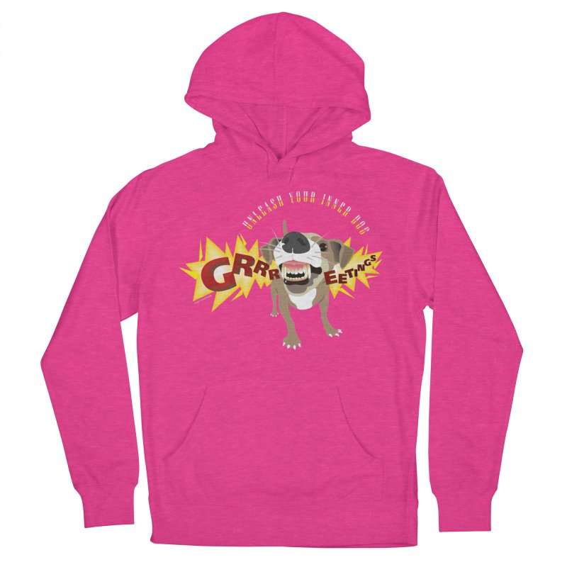 Unleash Your Inner Dog Men's French Terry Pullover Hoody by FayeKleinDesign's Artist Shop