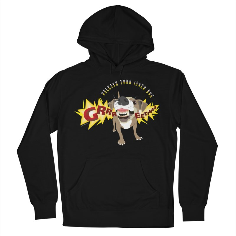 Unleash Your Inner Dog Men's Pullover Hoody by FayeKleinDesign's Artist Shop