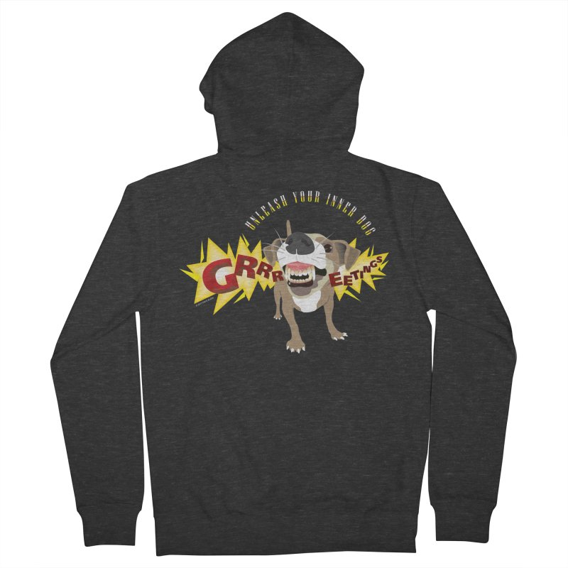 Unleash Your Inner Dog Women's French Terry Zip-Up Hoody by FayeKleinDesign's Artist Shop