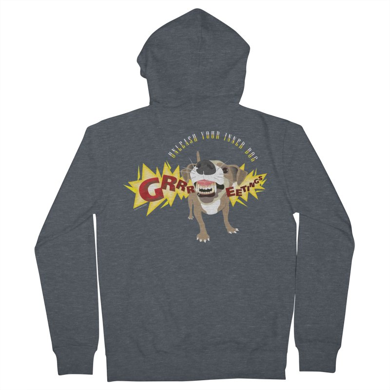 Unleash Your Inner Dog Men's French Terry Zip-Up Hoody by FayeKleinDesign's Artist Shop