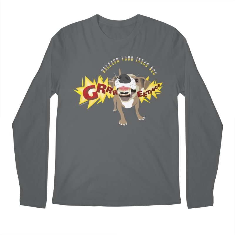 Unleash Your Inner Dog Men's Regular Longsleeve T-Shirt by FayeKleinDesign's Artist Shop