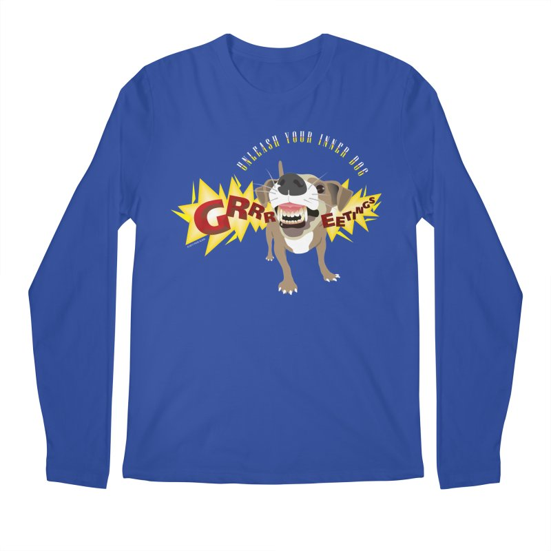 Unleash Your Inner Dog Men's Longsleeve T-Shirt by FayeKleinDesign's Artist Shop