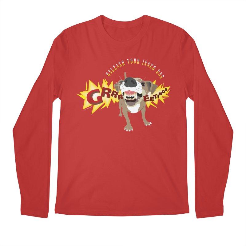 Unleash Your Inner Dog Men's Regular Longsleeve T-Shirt by FayeKleinDesign's Artist Shop