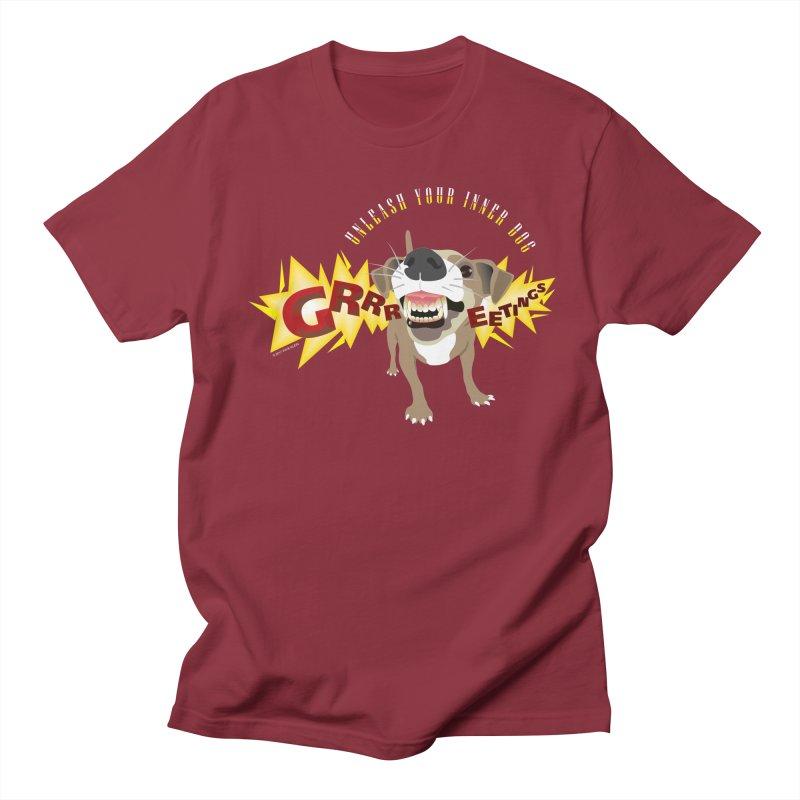 Unleash Your Inner Dog Men's Regular T-Shirt by FayeKleinDesign's Artist Shop