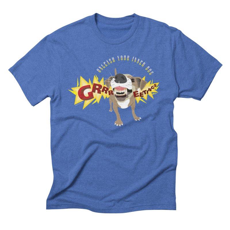 Unleash Your Inner Dog Men's Triblend T-Shirt by FayeKleinDesign's Artist Shop