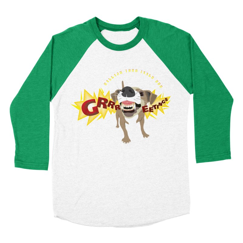 Unleash Your Inner Dog Women's Baseball Triblend Longsleeve T-Shirt by FayeKleinDesign's Artist Shop