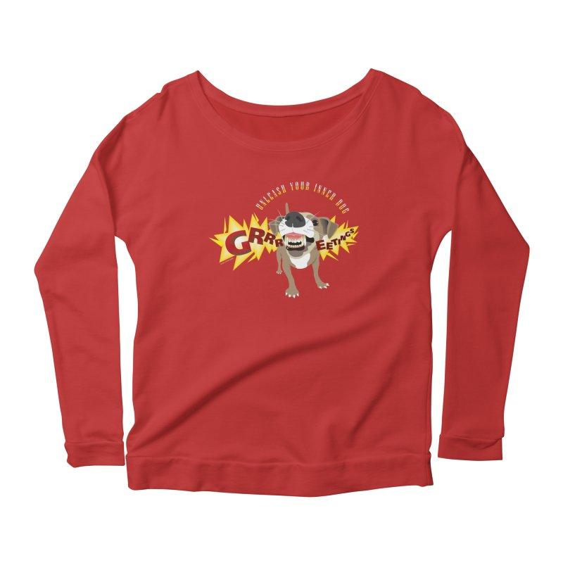 Unleash Your Inner Dog Women's Scoop Neck Longsleeve T-Shirt by FayeKleinDesign's Artist Shop
