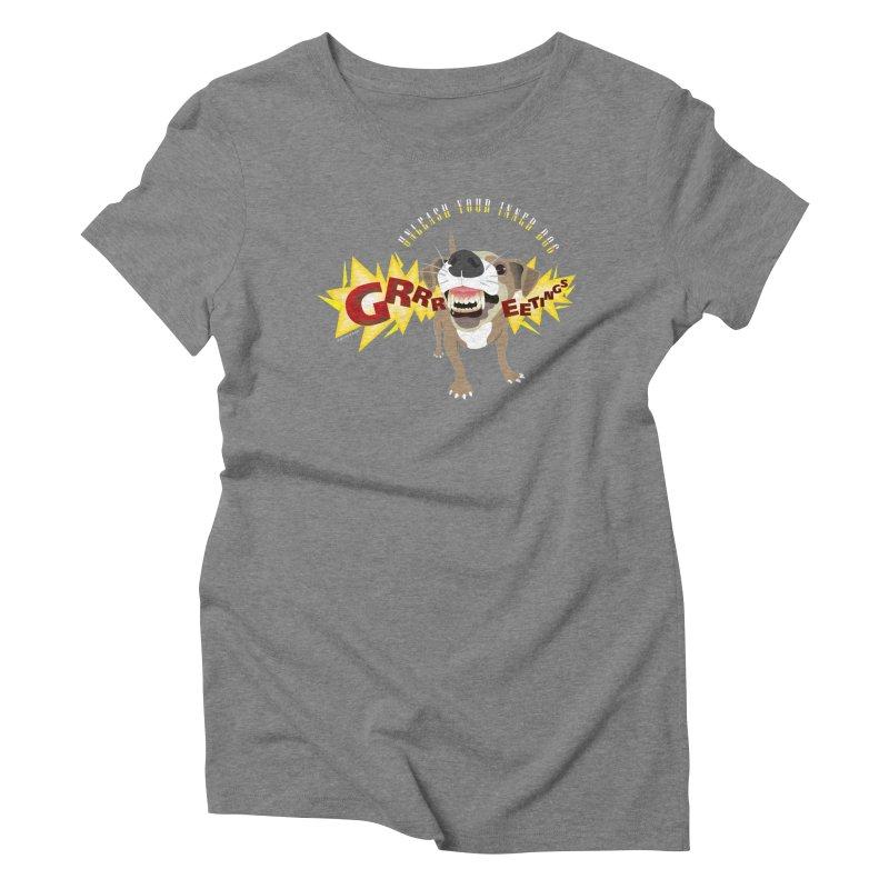 Unleash Your Inner Dog Women's Triblend T-Shirt by FayeKleinDesign's Artist Shop