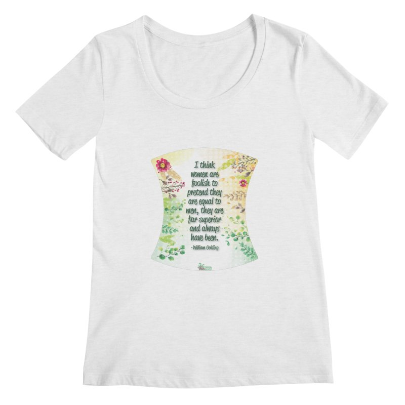 Superior Women's Regular Scoop Neck by FemThotz's Artist Shop