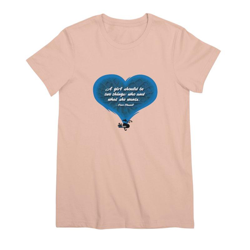 What she wants Women's Premium T-Shirt by FemThotz's Artist Shop