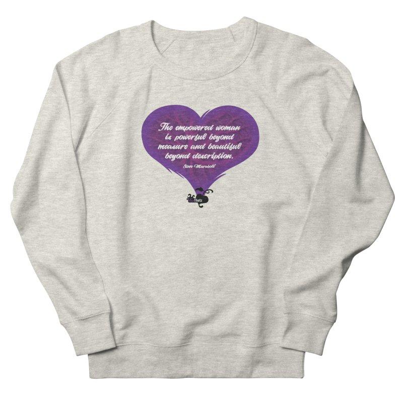 Beyond description Women's French Terry Sweatshirt by FemThotz's Artist Shop