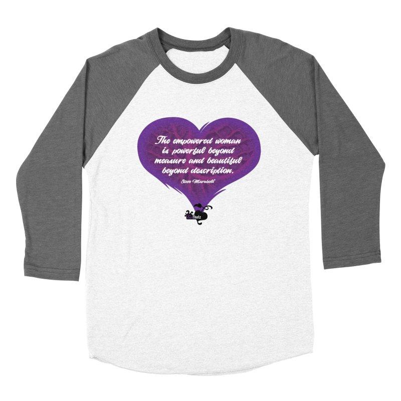 Beyond description Women's Baseball Triblend Longsleeve T-Shirt by FemThotz's Artist Shop
