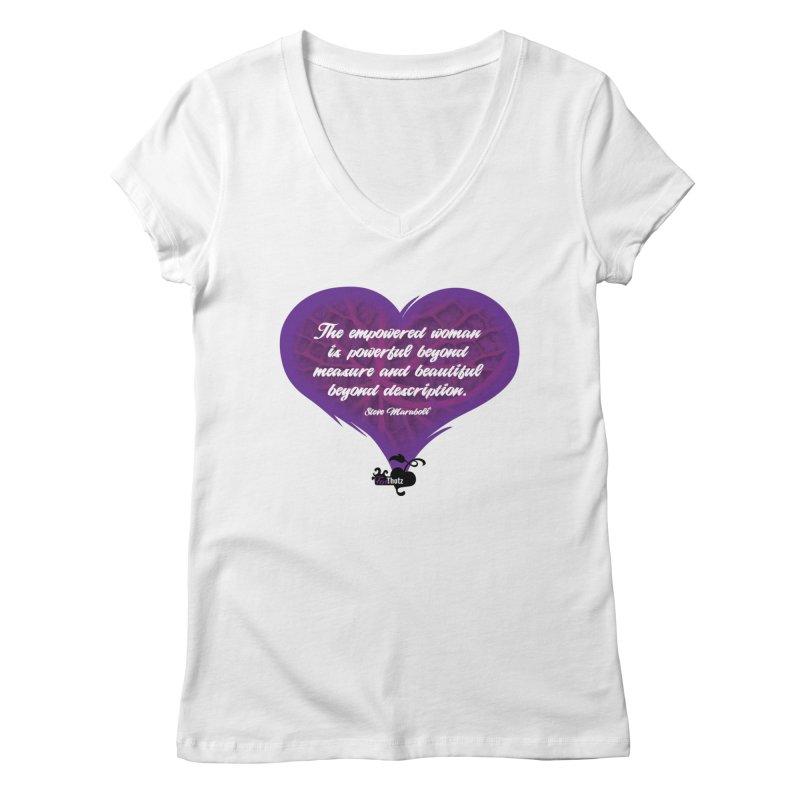 Beyond description Women's Regular V-Neck by FemThotz's Artist Shop