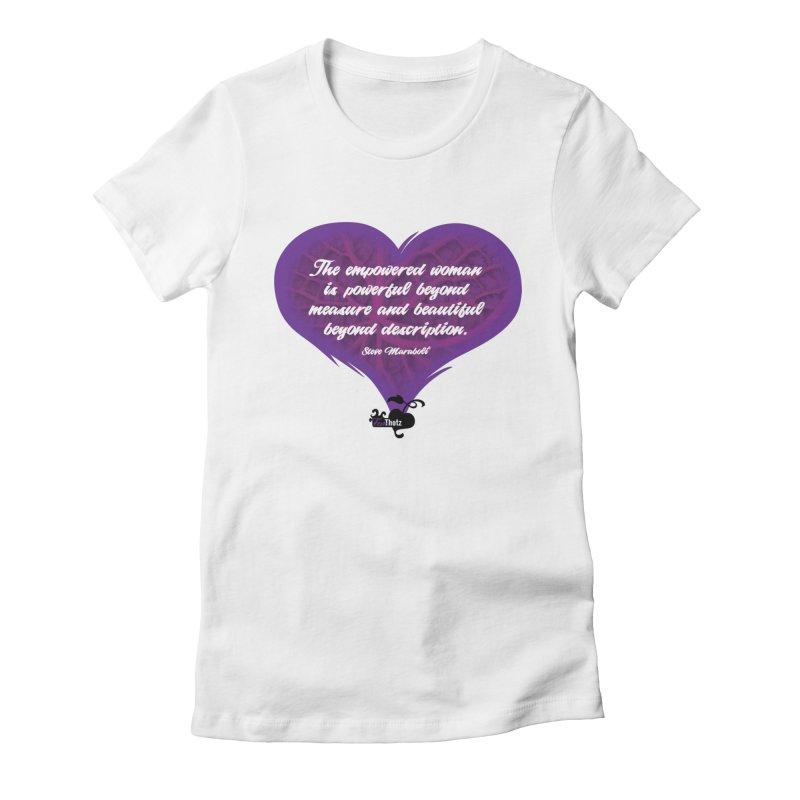 Beyond description Women's Fitted T-Shirt by FemThotz's Artist Shop