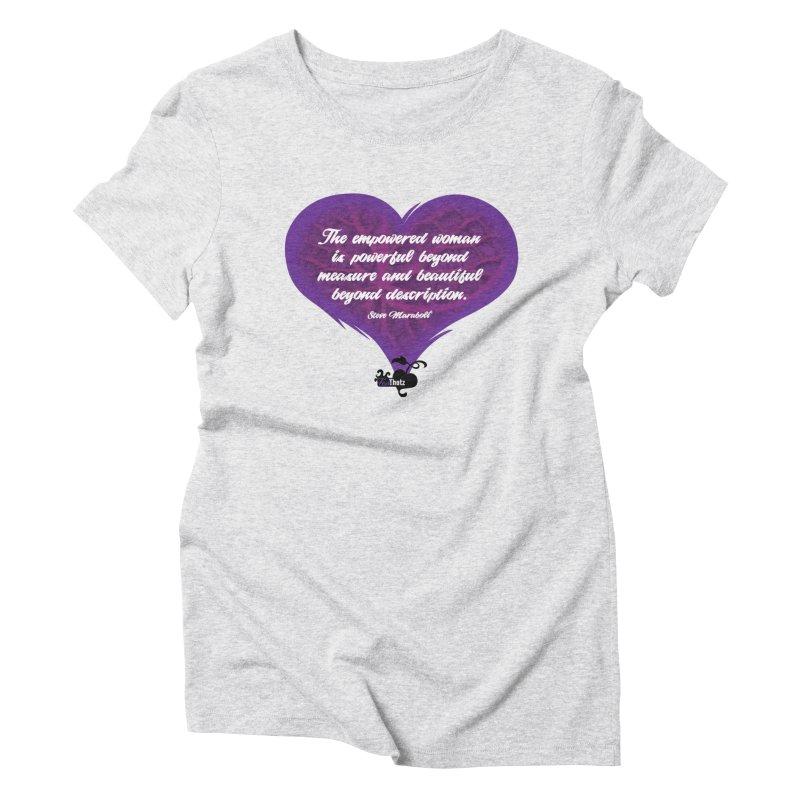 Beyond description Women's Triblend T-Shirt by FemThotz's Artist Shop