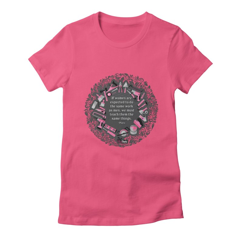 Same tools Women's Fitted T-Shirt by FemThotz's Artist Shop