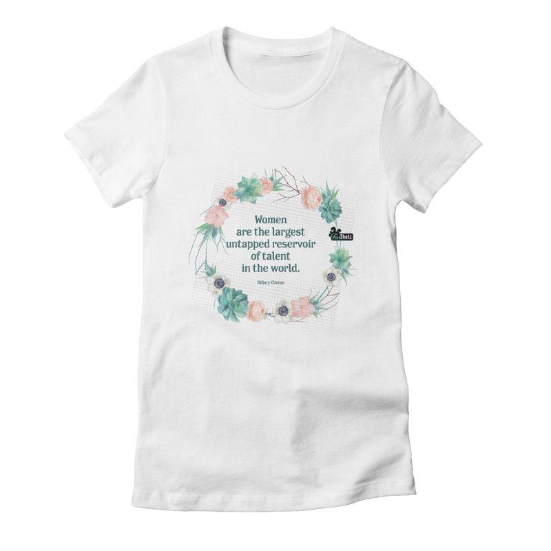 Untapped talent Women's Fitted T-Shirt by FemThotz's Artist Shop