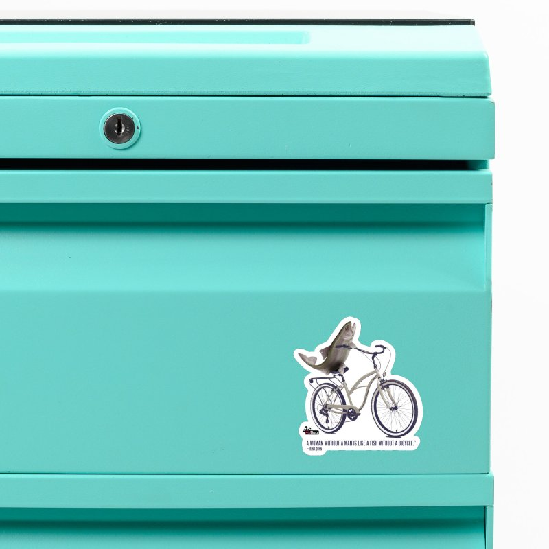 FishBicycle Accessories Magnet by FemThotz's Artist Shop