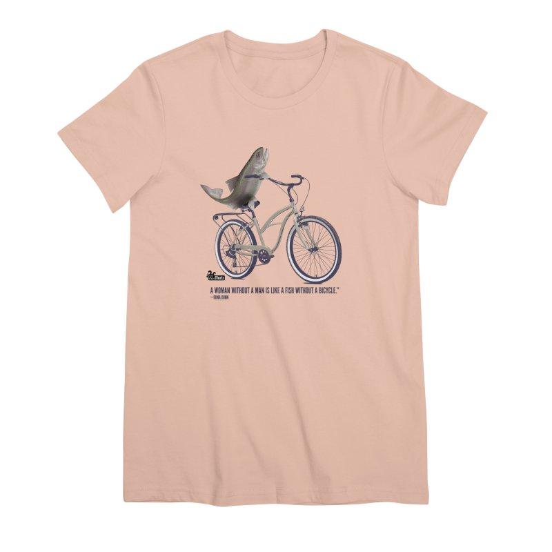FishBicycle Women's Premium T-Shirt by FemThotz's Artist Shop