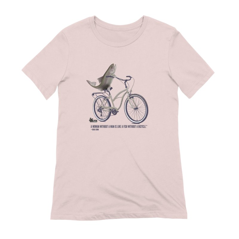 FishBicycle Women's Extra Soft T-Shirt by FemThotz's Artist Shop