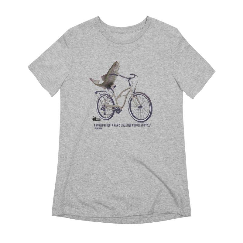 FishBicycle Women's Extra Soft T-Shirt by FemThotz's Artist Shop