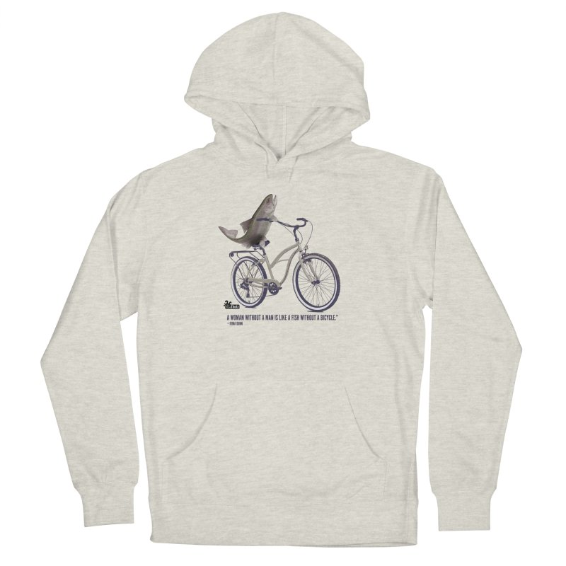 FishBicycle Women's French Terry Pullover Hoody by FemThotz's Artist Shop