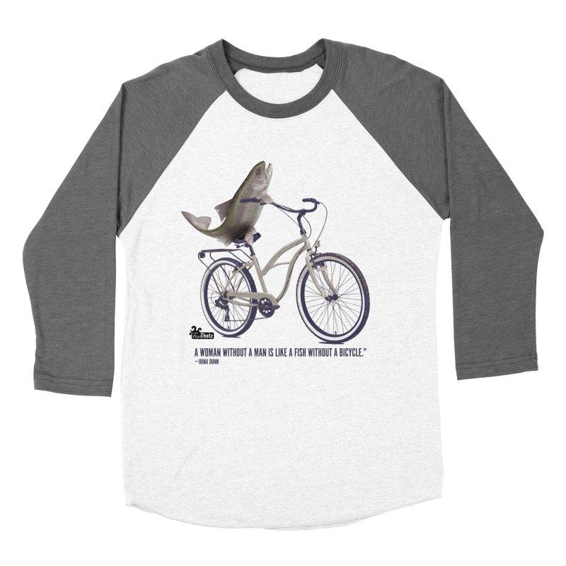 FishBicycle Women's Baseball Triblend Longsleeve T-Shirt by FemThotz's Artist Shop