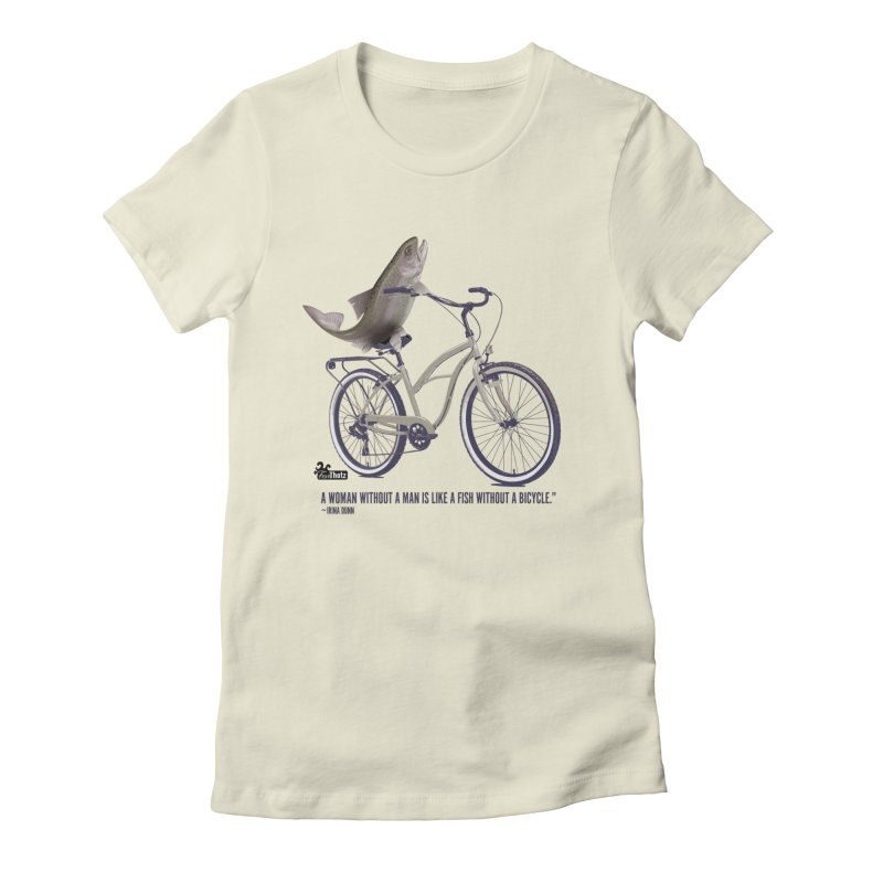 FishBicycle Women's Fitted T-Shirt by FemThotz's Artist Shop