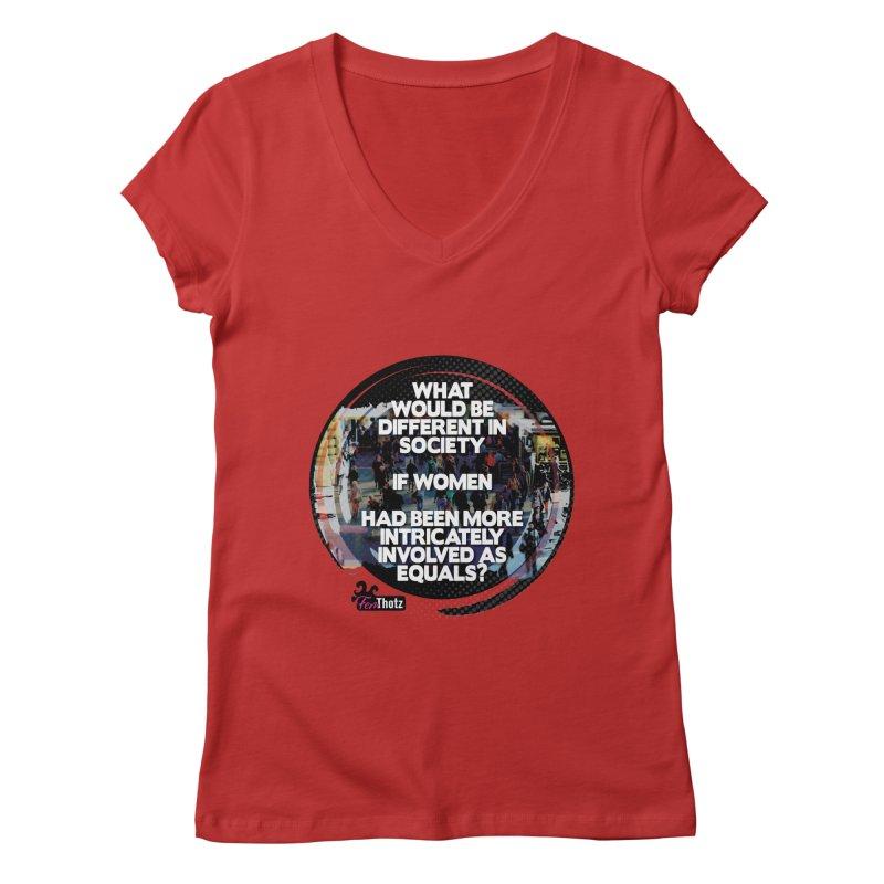 Involved as equals Women's Regular V-Neck by FemThotz's Artist Shop