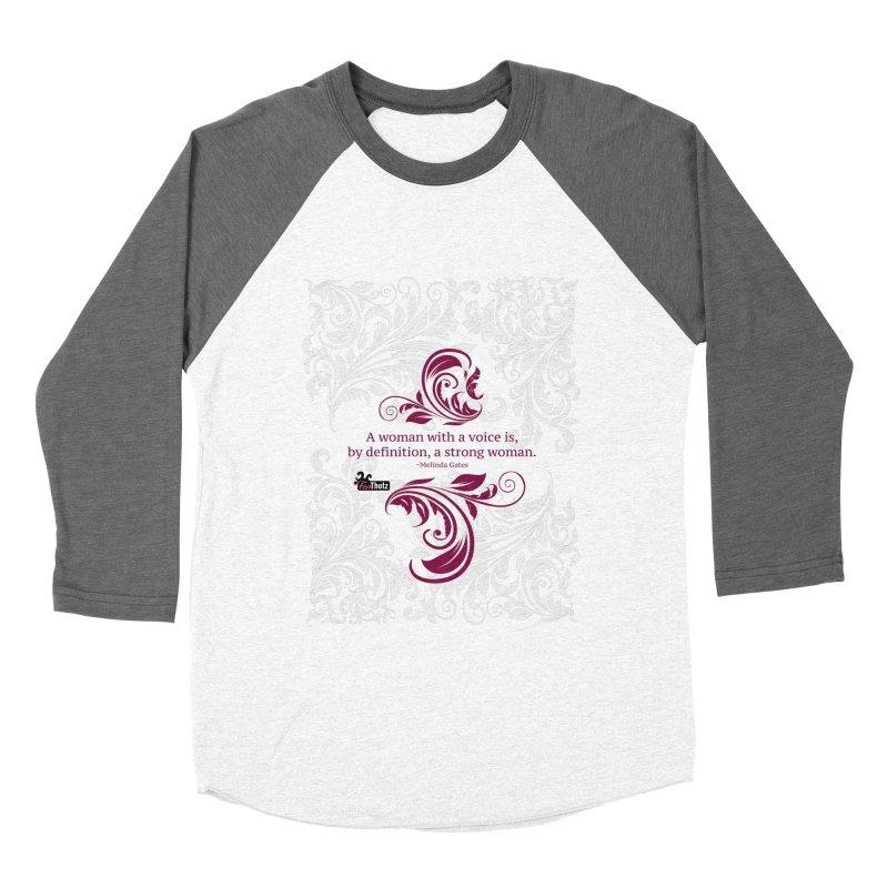 Strong Woman Women's Baseball Triblend Longsleeve T-Shirt by FemThotz's Artist Shop
