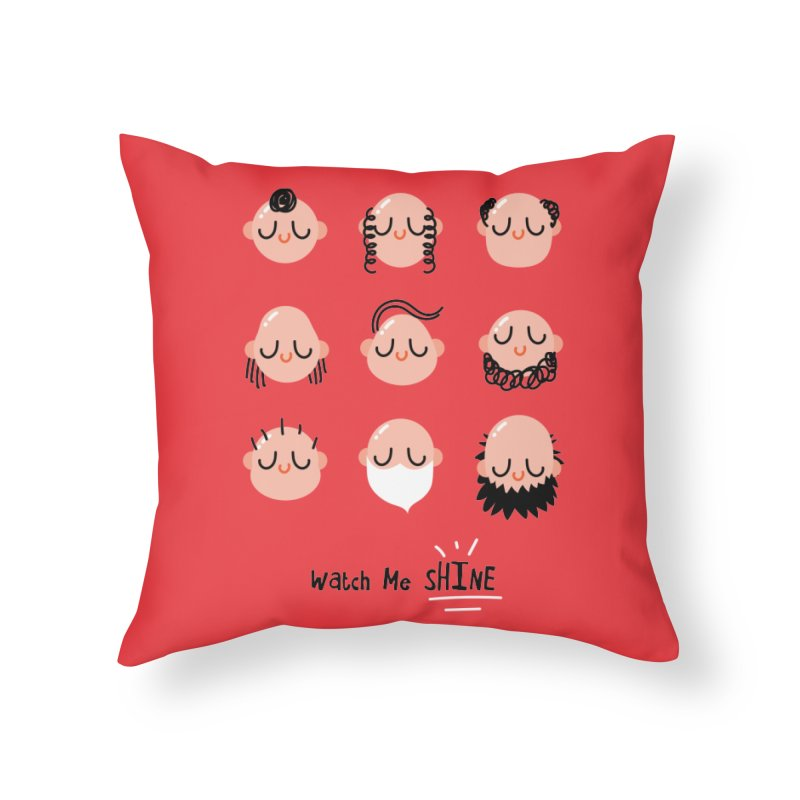 Watch Me SHINE Home Throw Pillow by Fenway Wei Fan
