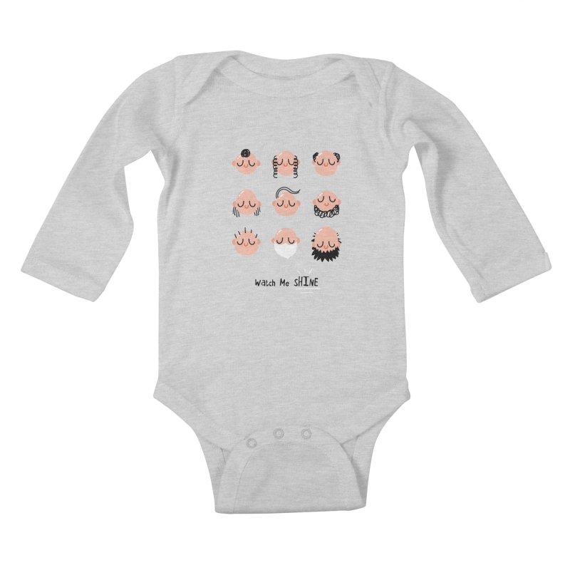 Watch Me SHINE Kids Baby Longsleeve Bodysuit by Fenway Wei Fan