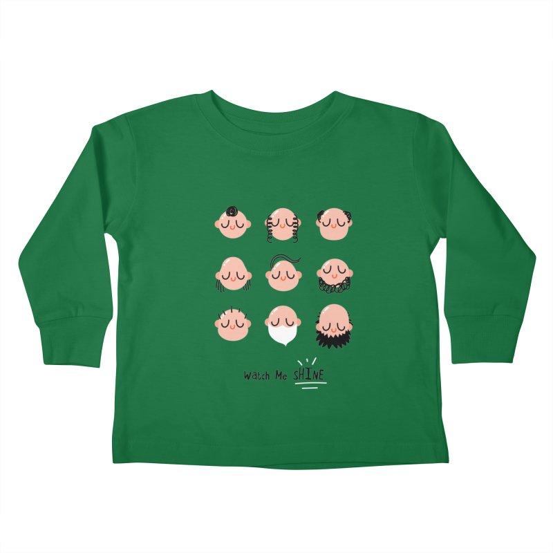 Watch Me SHINE Kids Toddler Longsleeve T-Shirt by Fenway Wei Fan