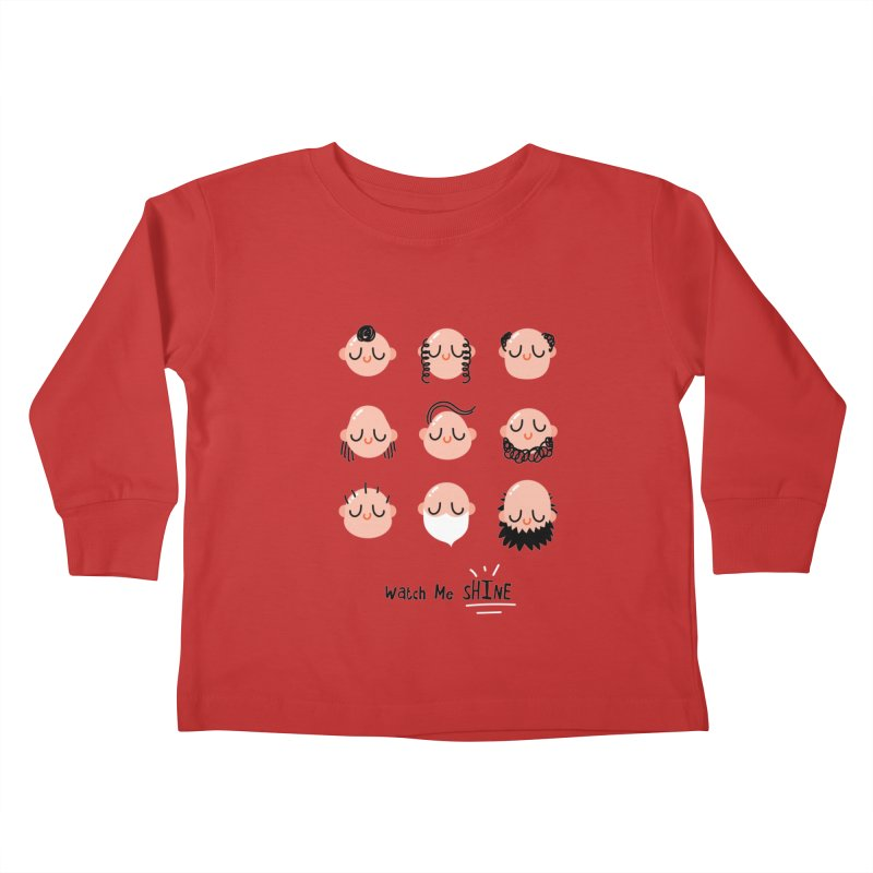 Watch Me SHINE Kids Toddler Longsleeve T-Shirt by Fenway Wei Fan