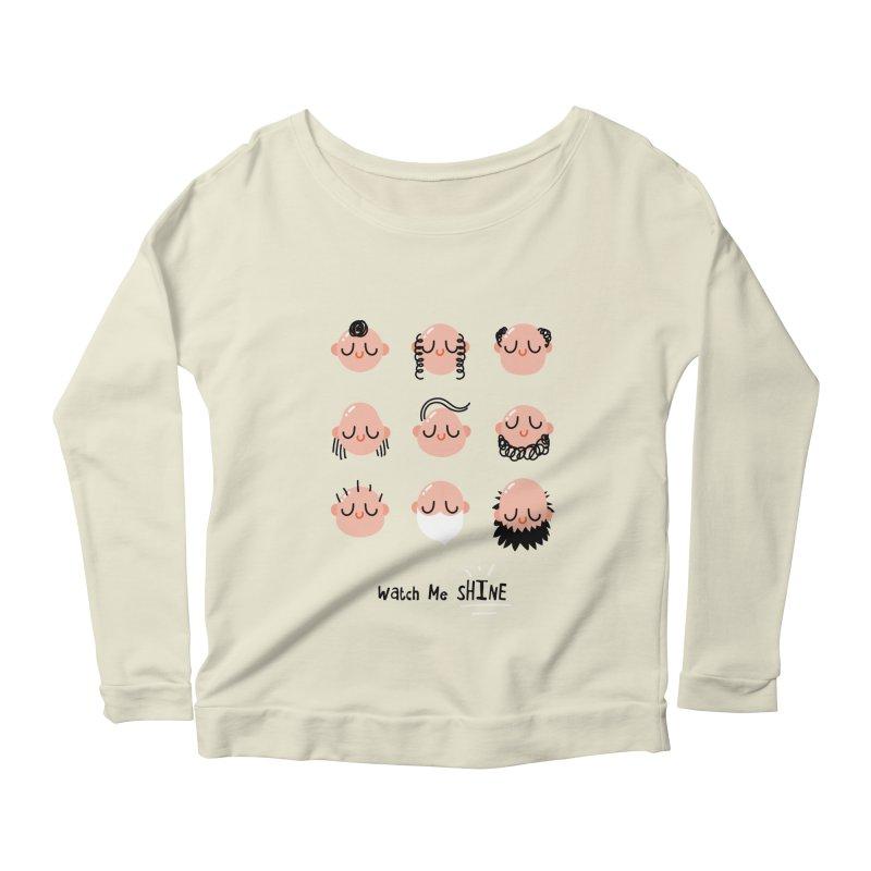 Watch Me SHINE Women's Scoop Neck Longsleeve T-Shirt by Fenway Wei Fan