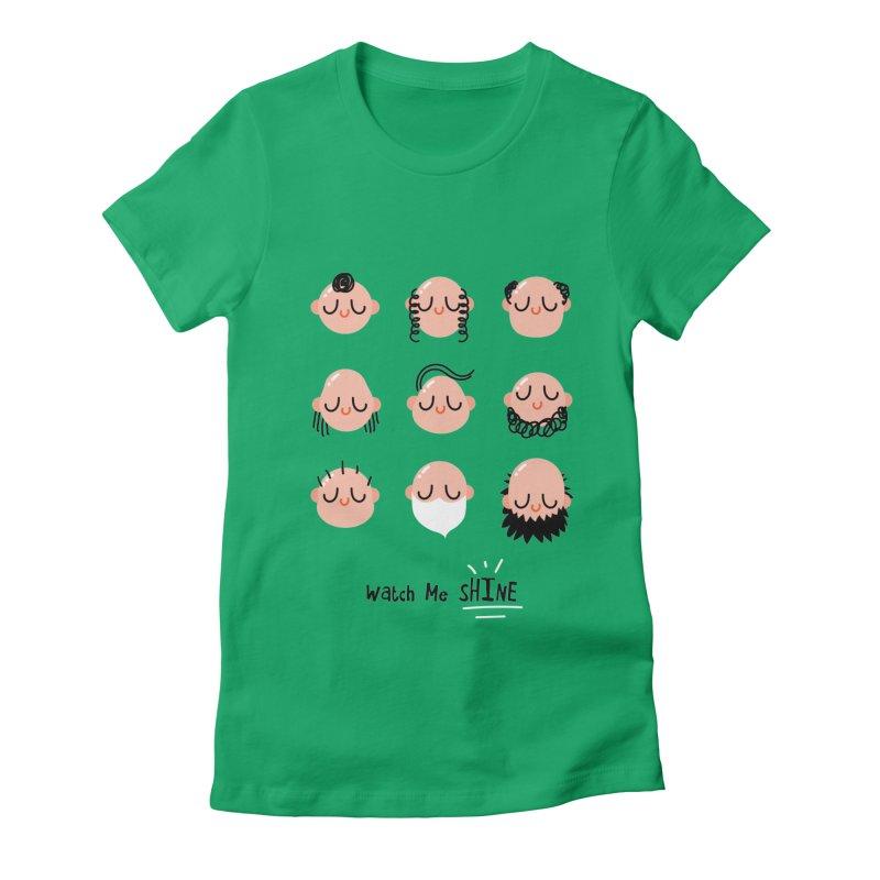Watch Me SHINE Women's Fitted T-Shirt by Fenway Wei Fan