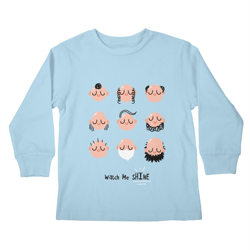 Watch Me SHINE Kids Longsleeve T-Shirt by Fenway Wei Fan