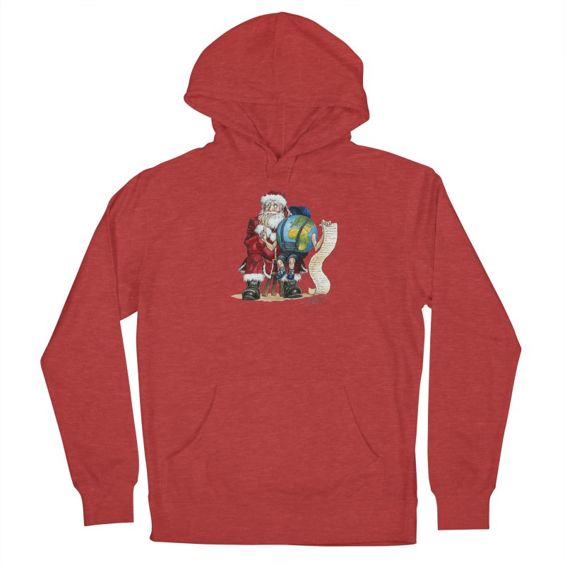 Poor Santa! What a headache! Men's French Terry Pullover Hoody by Ferran Xalabarder's Artist Shop