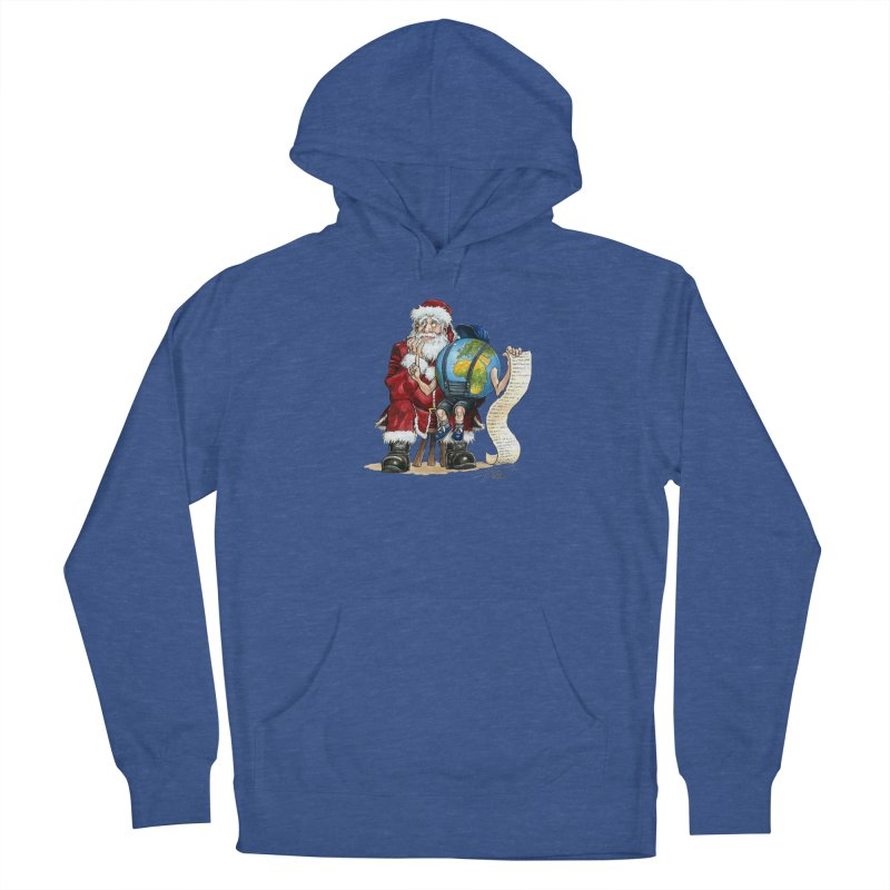 Poor Santa! What a headache! Men's Pullover Hoody by Ferran Xalabarder's Artist Shop