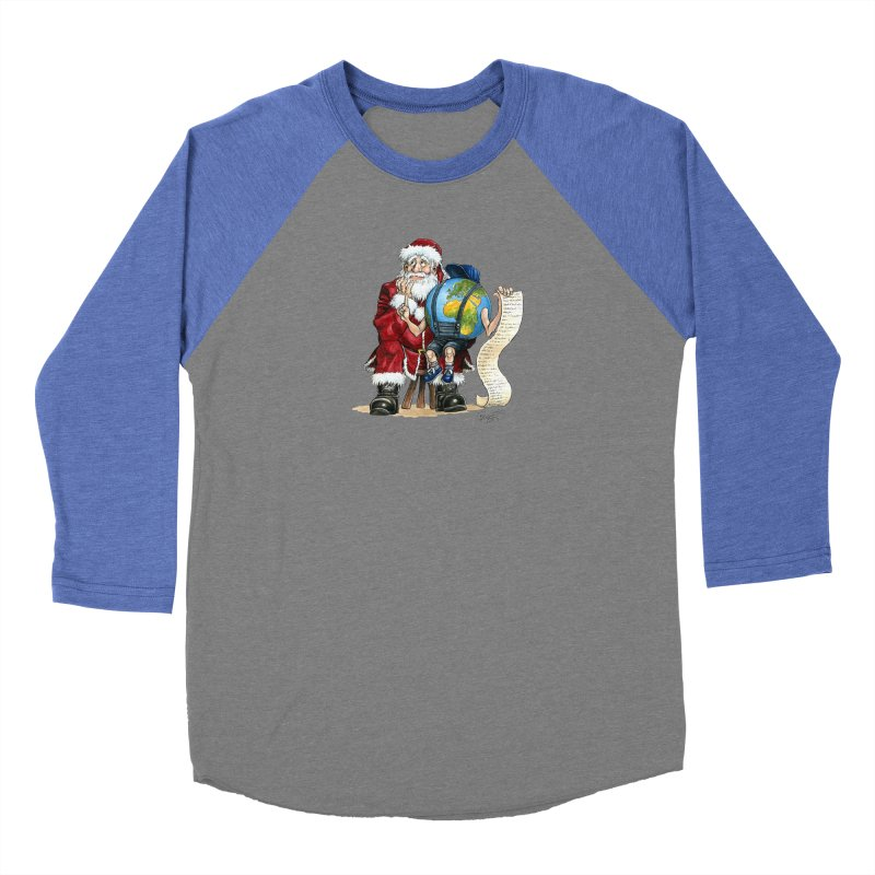 Poor Santa! What a headache! Men's Baseball Triblend Longsleeve T-Shirt by Ferran Xalabarder's Artist Shop