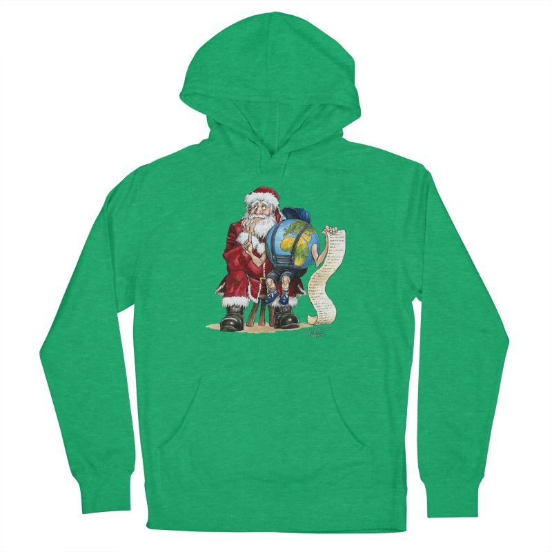 Poor Santa! What a headache! Women's Pullover Hoody by Ferran Xalabarder's Artist Shop