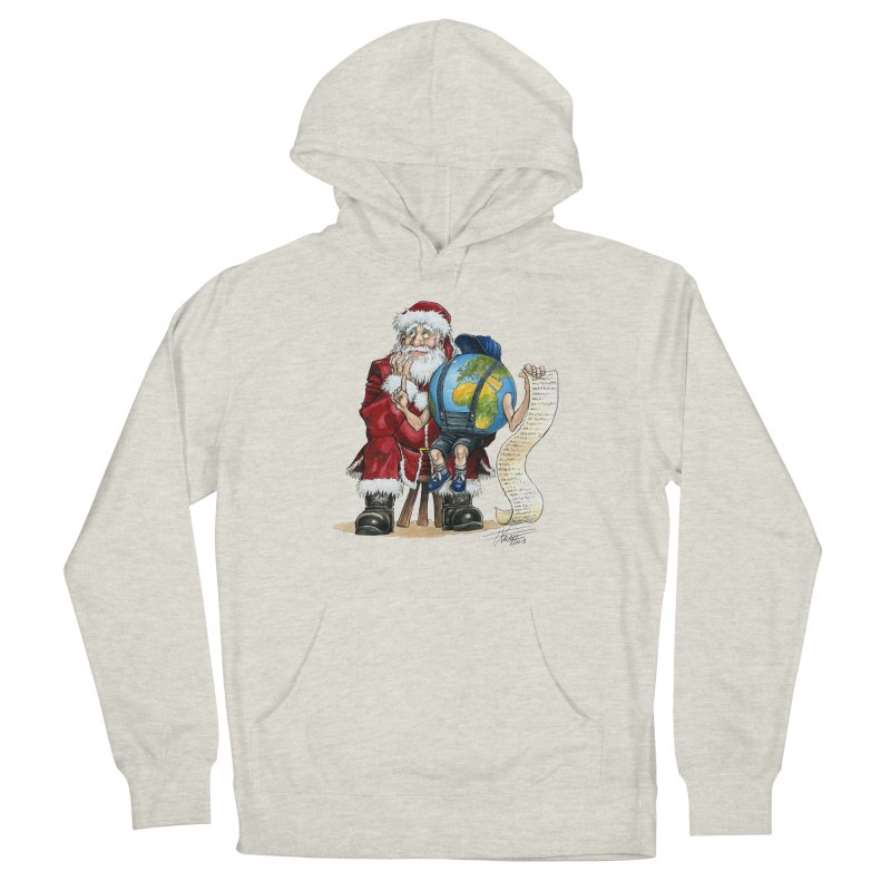Poor Santa! What a headache! Women's French Terry Pullover Hoody by Ferran Xalabarder's Artist Shop