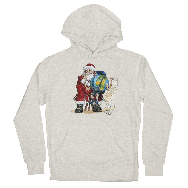 Poor Santa! What a headache! Men's Pullover Hoody by Ferran Xalabarder's Artist Shop